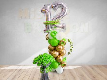 Personalized Birthday Balloon Stand